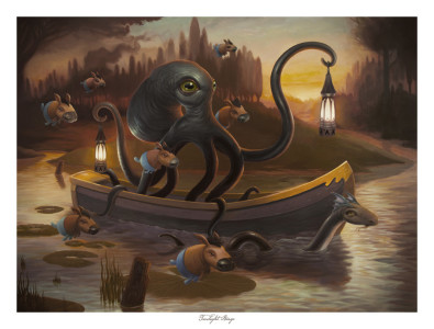Twilight Barge - Limited Edition Giclee Print - Signed and Numbered