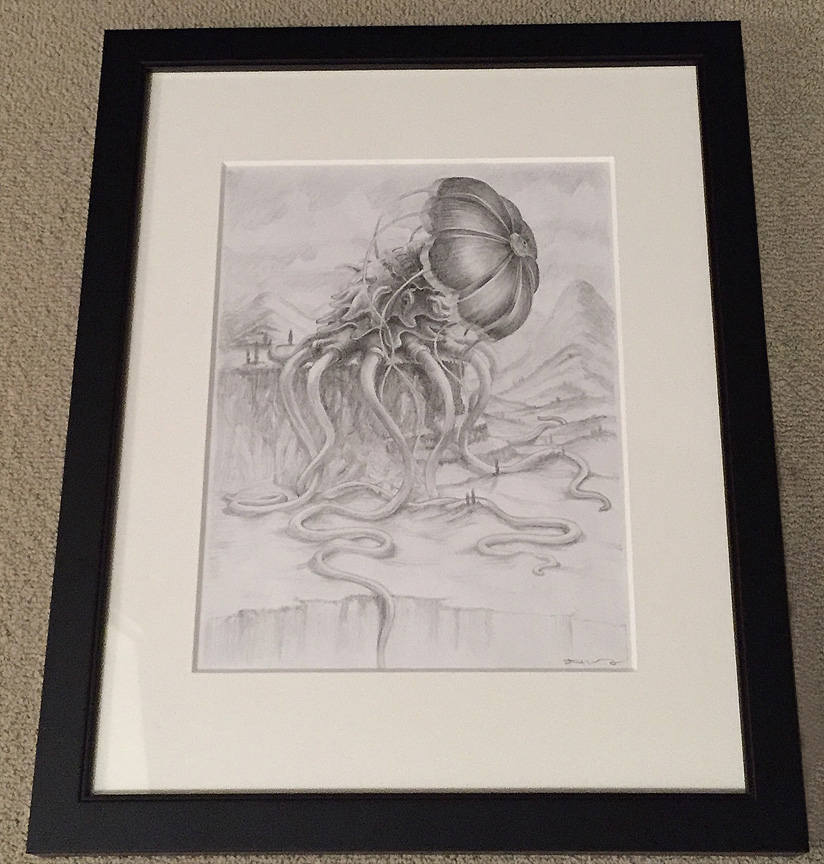 LittleMermaidDrawing-Framed