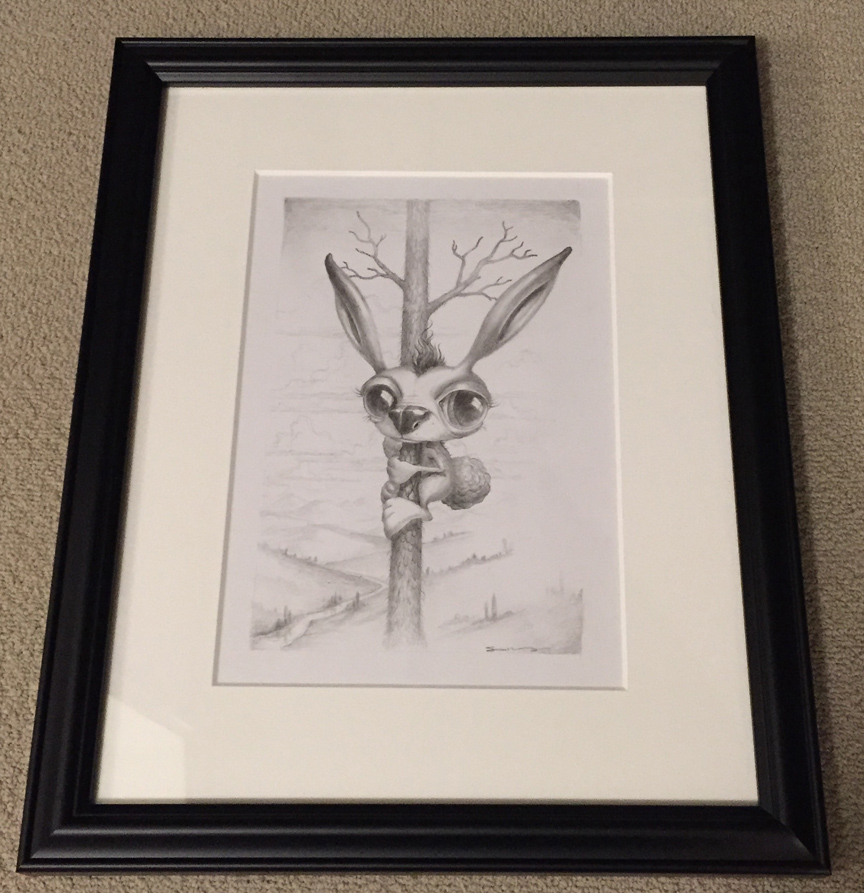 TreeRabbitDrawing-Framed