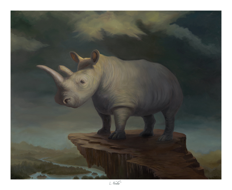 "New Print Available – ""Nola"" Northern White Rhino"