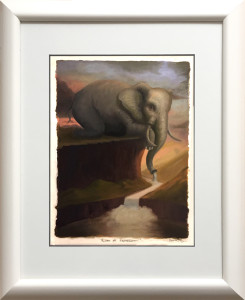 ElephantStudy-Framed